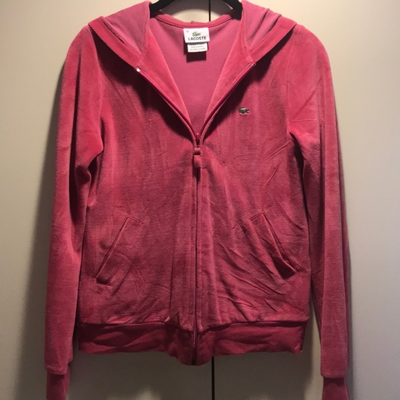 Lacoste Jackets & Blazers - Pink Lacoste Velour Jacket